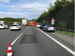fw en verkehrsunfall auf der autobahn a1